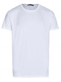 T-Shirt - Rundhals -Ausschnitt - weiß