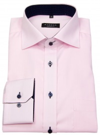 Hemd - Comfort Fit - Oxford - Kontrastknöpfe - rosé
