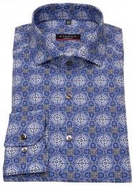 Hemd - Modern Fit - Muster - blau / beige / weiß - 68cm Arm