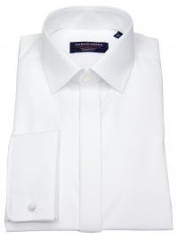 Hemd - Modern Fit - Kentkragen - Umschlagmanschette - weiß