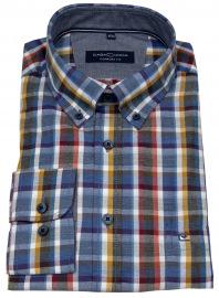 Casa Moda Hemd - Comfort Fit - Button Down Kragen - mehrfarbig kariert