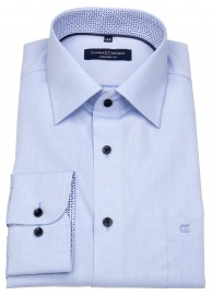 Casa Moda Hemd - Comfort Fit - Kontrastknöpfe - blau