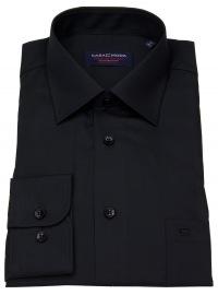 Casa Moda Hemd - Comfort Fit - schwarz