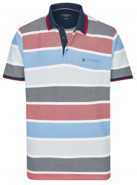 Casa Moda Poloshirt - Casual Fit - Streifen - mehrfarbig
