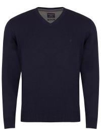 Casa Moda Pullover - V-Ausschnitt - dunkelblau