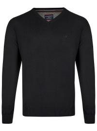 Casa Moda Pullover - V-Ausschnitt - schwarz