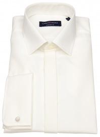 Casa Moda Smokinghemd - Comfort Fit - Umschlagmanschette - beige