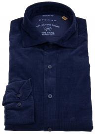 Eterna Cordhemd - Regular Fit - We Care Shirt - dunkelblau