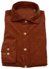 Eterna Cordhemd - Regular Fit - We Care Shirt - rotbraun