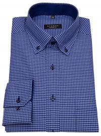 Eterna Hemd - Comfort Fit - Button Down - blau / dunkelblau