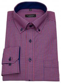 Eterna Hemd - Comfort Fit - Button Down - rot / dunkelblau