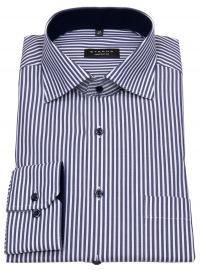 Eterna Hemd - Comfort Fit - Streifen - blau / weiß