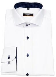 Eterna Hemd - Slim Fit - Oxford - Kontrastköpfe - weiß
