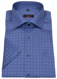 Eterna Kurzarmhemd - Modern Fit - blau / hellblau