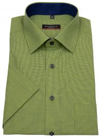 Eterna Kurzarmhemd - Modern Fit - grün / dunkelblau