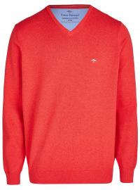 Fynch-Hatton Pullover - Casual Fit - V-Ausschnitt - rot