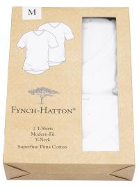 Fynch-Hatton T-Shirt - Doppelpack - Modern Fit - Rundhals - weiß