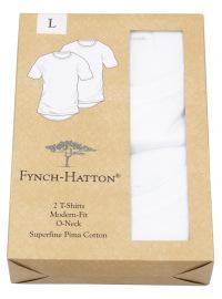 Fynch-Hatton T-Shirt - Doppelpack - Modern Fit - V-Neck - weiß