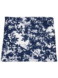 Jacques Britt Einstecktuch - Seide - dunkelblau / weiß