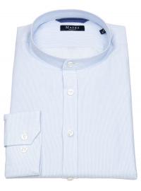 MAERZ Muenchen Hemd - Regular Fit - Stehkragen - hellblau / weiß