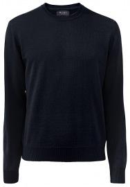 MAERZ Muenchen Pullover - Comfort Fit - Rundhals - Merinowolle - navy