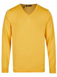 MAERZ Muenchen Pullover - Modern Fit - V-Ausschnitt - gelb