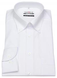 Marvelis Hemd - Comfort Fit - Button Down Kragen - weiß