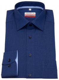 Marvelis Hemd - Modern Fit - Patch - blau
