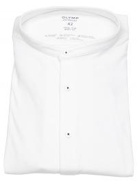 OLYMP Hemd - Level 5 Body Fit - 24 / Seven Shirt - Stehkragen - weiß