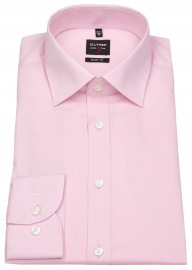 OLYMP Hemd - Level Five Body Fit - Chambray - rosé