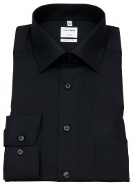 OLYMP Hemd - Luxor Comfort Fit - New Kent Kragen - schwarz