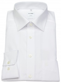 OLYMP Hemd - Luxor Comfort Fit - New Kent Kragen - weiß