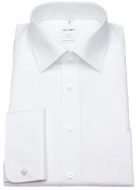 OLYMP Hemd - Luxor Comfort Fit - Umschlagmanschette - weiß