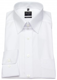 OLYMP Hemd - Luxor Modern Fit - Tabkragen - weiß