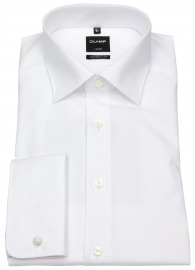 OLYMP Hemd - Luxor Modern Fit - Umschlagmanschette - weiß