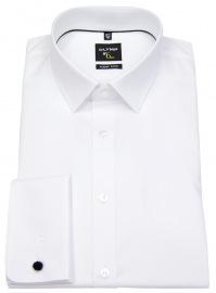 OLYMP Hemd - No. Six Super Slim - Umschlagmanschette - weiß