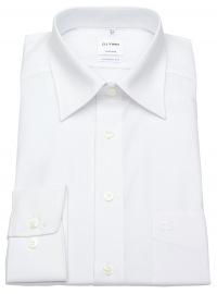 OLYMP Hemd - Tendenz Modern Fit - Kentkragen - weiß