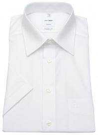 OLYMP Kurzarm Hemd - Tendenz Modern Fit - weiß