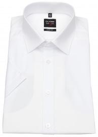 OLYMP Kurzarmhemd - Level Five Body Fit - weiß