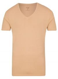 OLYMP Level Five Body Fit - T-Shirt - V-Ausschnitt - caramel