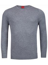OLYMP Pullover - Level Five - Merinowolle - Rundhals - grau