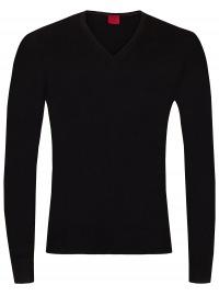 OLYMP Pullover - Level Five - V-Ausschnitt - Merinowolle - schwarz