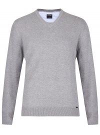 OLYMP Pullover - V-Ausschnitt - grau