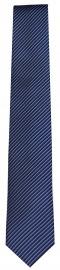 OLYMP Seidenkrawatte - Slim - blau / schwarz - fein gestreift
