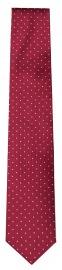 OLYMP Seidenkrawatte - Slim - rot mit weissen Punkten