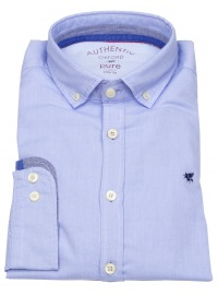 Pure Hemd - Slim Fit - Button Down - Oxford - hellblau