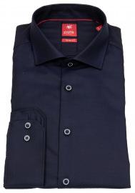 Pure Hemd - Slim Fit - Haifischkragen - dunkelblau