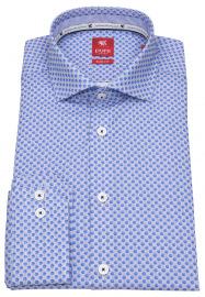 Pure Hemd - Slim Fit - Print - hellblau / weiß