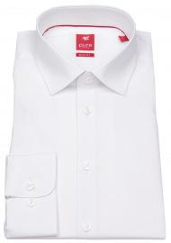 Pure Hemd - Slim Fit Stretch - Kentkragen - weiß