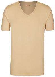Pure T-Shirt - Slim Fit - V-Ausschnitt - caramel